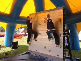 Mobile Rolling Rock Climbing Wall